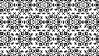 Black and White Seamless Geometric Circle Pattern