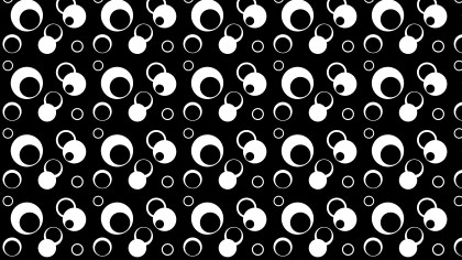 Black and White Seamless Geometric Circle Pattern Background