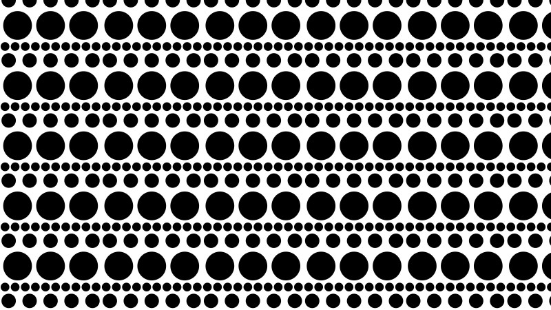 Black and White Circle Pattern Background Vector Illustration