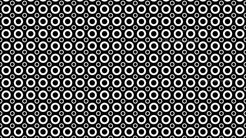 Black and White Circle Background Pattern Vector