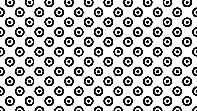 Black and White Geometric Circle Pattern Vector Art