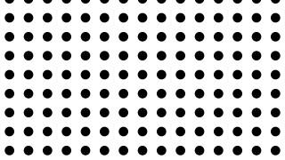 Black and White Seamless Circle Pattern Design