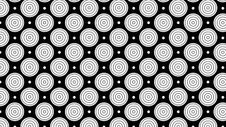 Black and White Concentric Circles Pattern Graphic