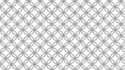 Black and White Seamless Overlapping Circles Background Pattern