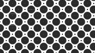 Black and White Concentric Circles Pattern Background Illustration