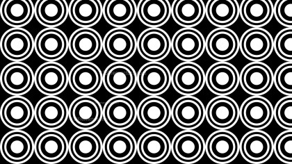 Black and White Seamless Geometric Circle Pattern Vector Image
