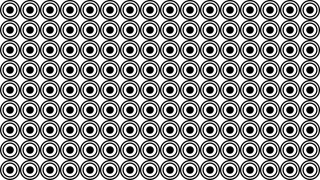 Black and White Seamless Geometric Circle Pattern Background Illustrator