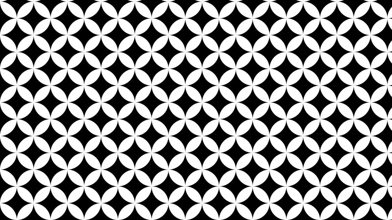Black and White Overlapping Circles Background Pattern Illustrator
