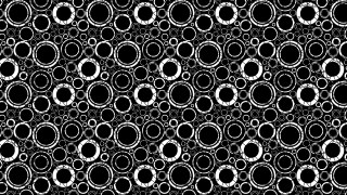 Black and White Circle Background Pattern