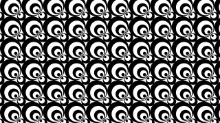 Black and White Seamless Geometric Retro Circles Pattern