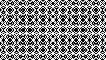 Black and White Seamless Overlapping Circles Background Pattern Vector Art