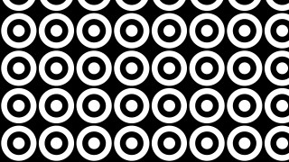 Black and White Seamless Circle Background Pattern
