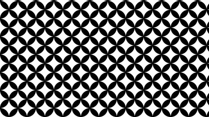 Black and White Overlapping Circles Pattern