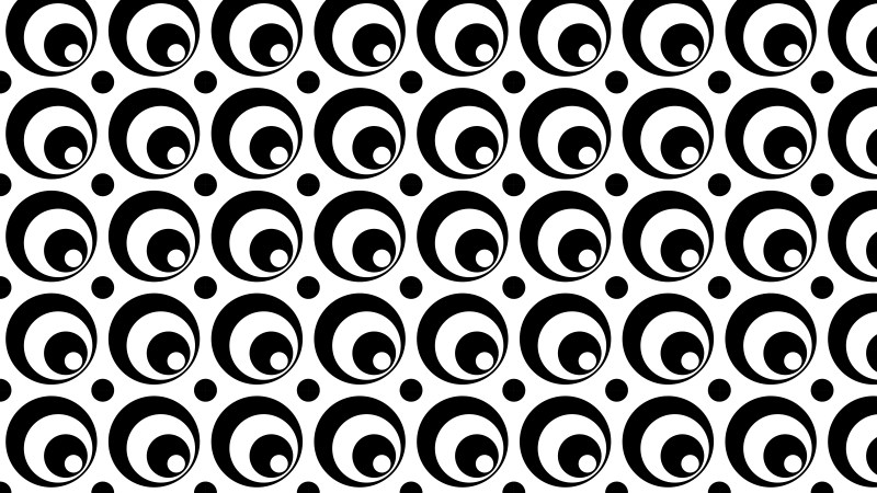 Black and White Circle Background Pattern Design