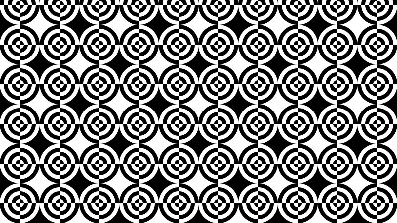 Black and White Seamless Quarter Circles Pattern Vector Image