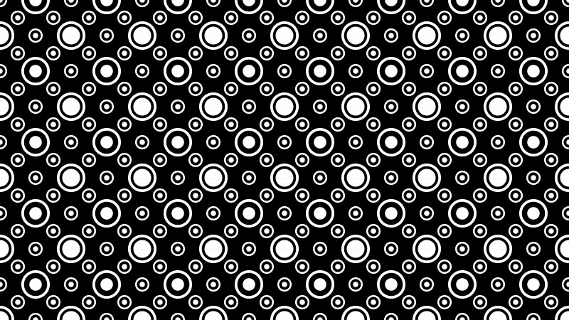 Black and White Geometric Circle Background Pattern Vector Image