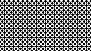 Black and White Seamless Circle Pattern Background Vector Illustration