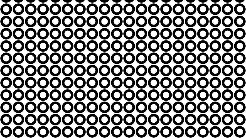 Black and White Seamless Circle Background Pattern Vector