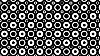 Black and White Seamless Geometric Circle Pattern Vector Art