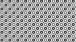 Black and White Seamless Geometric Circle Pattern Background Graphic