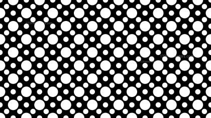 Black and White Seamless Circle Pattern