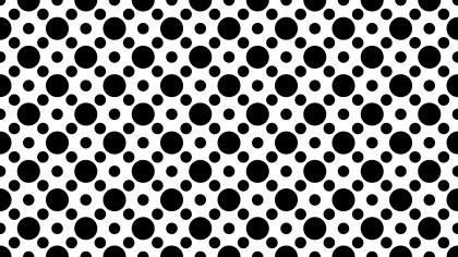 Black and White Seamless Circle Pattern Background