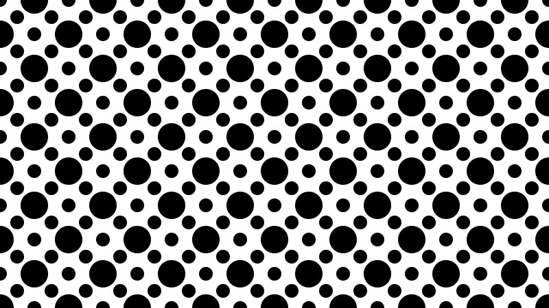 Black and White Seamless Circle Pattern Background