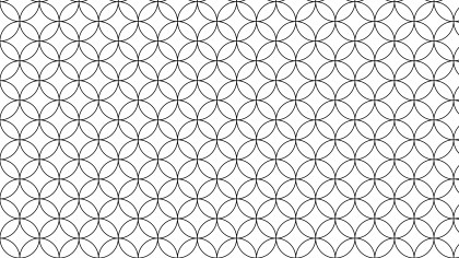 Black and White Overlapping Circles Pattern Background Vector Illustration