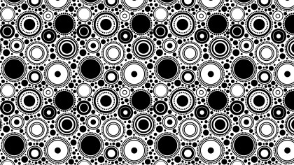 Black and White Seamless Geometric Circle Background Pattern
