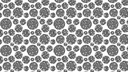 Black and White Circle Pattern Vector Graphic