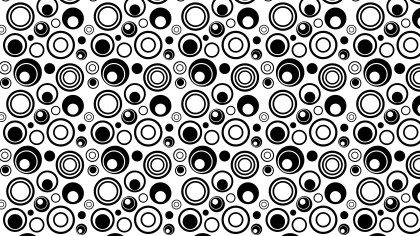 Black and White Seamless Random Circles Background Pattern