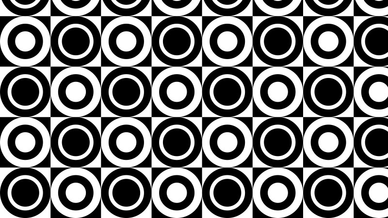 Black and White Circle Pattern Background Vector Image