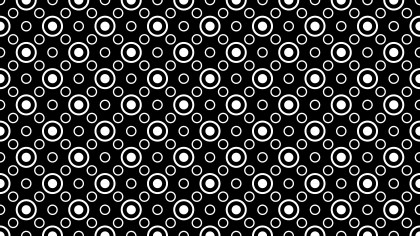 Black and White Geometric Circle Pattern Vector Illustration
