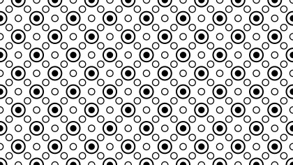 Black and White Geometric Circle Pattern Background Vector
