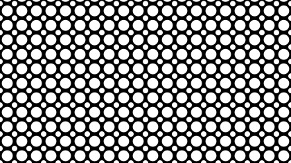 Black and White Geometric Circle Background Pattern Vector Art