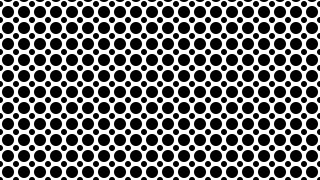 Black and White Seamless Circle Pattern Graphic