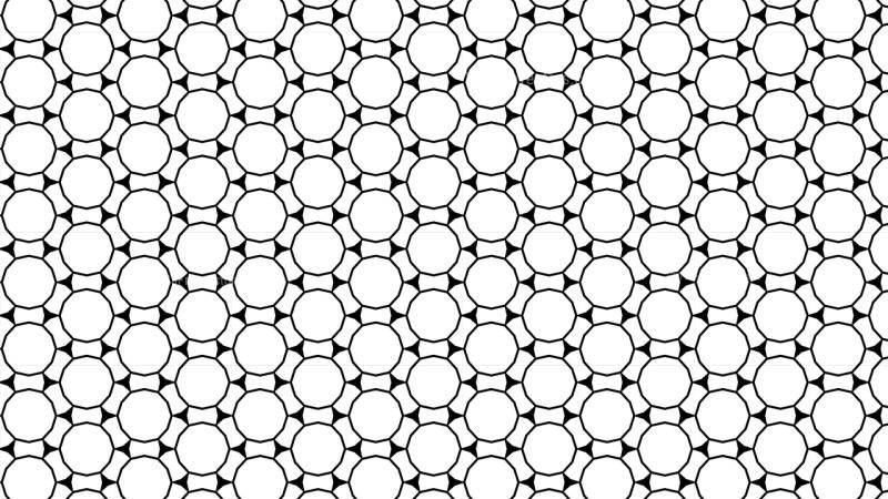 Black and White Seamless Circle Pattern Background Illustration