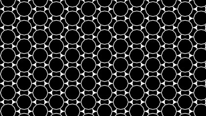 Black and White Seamless Circle Background Pattern Design