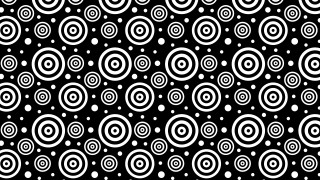 Black and White Concentric Circles Background Pattern Design