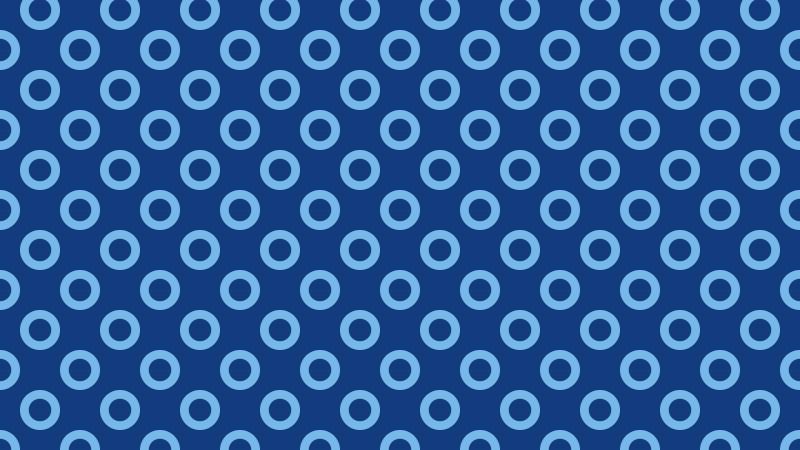 Blue Seamless Geometric Circle Pattern