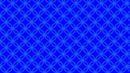 Cobalt Blue Seamless Overlapping Circles Pattern Vector Art