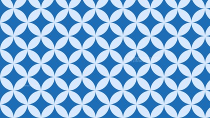Blue Overlapping Circles Pattern Background