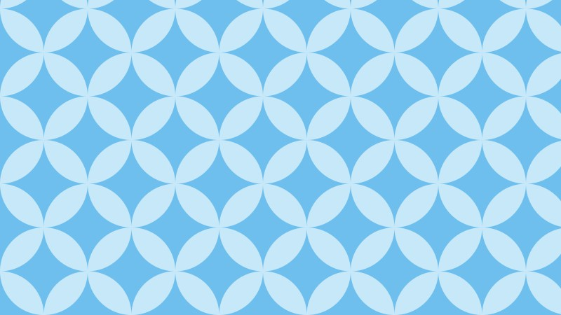 Baby Blue Overlapping Circles Background Pattern