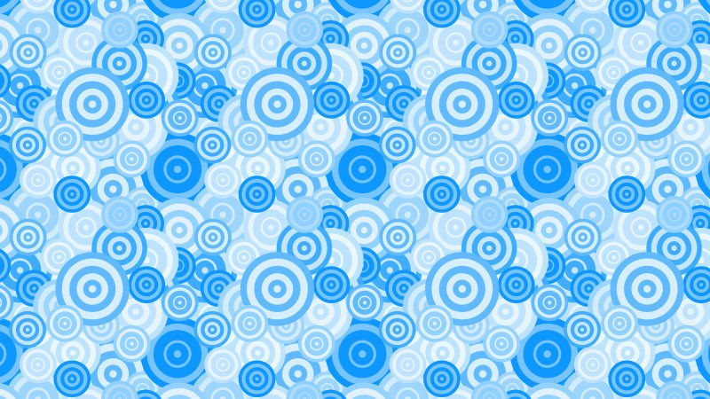 Light Blue Seamless Overlapping Concentric Circles Pattern Vector Graphic