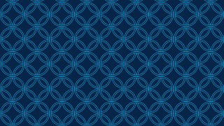Dark Blue Seamless Overlapping Circles Pattern