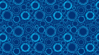 Dark Blue Seamless Geometric Circle Background Pattern