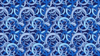 Blue Seamless Overlapping Circles Background Pattern
