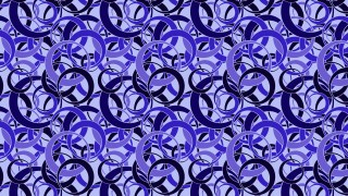 Blue Overlapping Circles Background Pattern Graphic