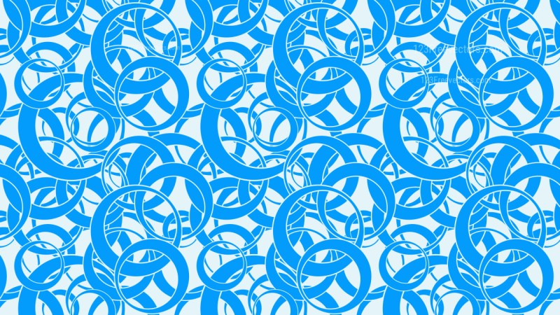 Blue Seamless Overlapping Circles Pattern Illustration
