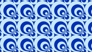 Blue Seamless Circle Background Pattern Illustrator